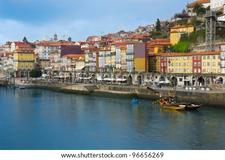 embankment of Porto, Portugal - stock photo