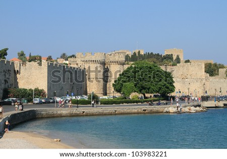 Embankment. Rhodes, Greece