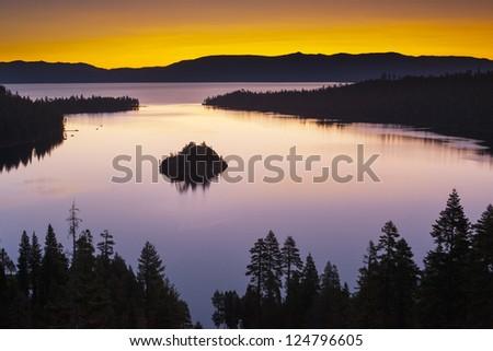Emerald Bay, Lake Tahoe, California, USA - stock photo