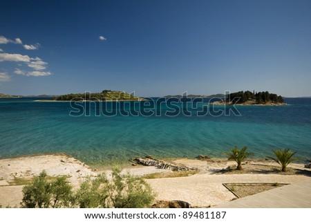 Emerald beach in Pakostane - stock photo
