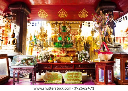 Emerald Buddha.Thailand - stock photo
