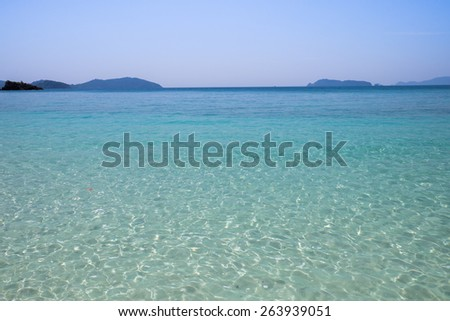 emerald color sea water background,tropical sea