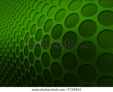 Emerald green circle pattern abstract background - stock photo