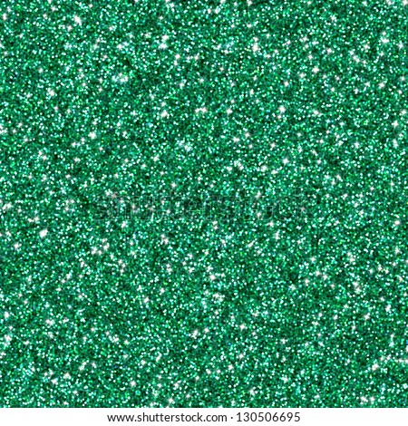 Emerald green glitter texture or background - stock photo
