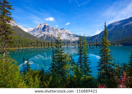 Emerald Lake Banff National Park Canada - stock photo