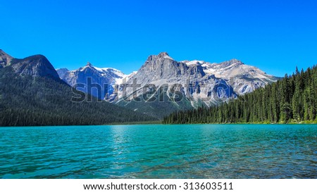 Emerald Lake Canadian Rocky Mountains - stock photo