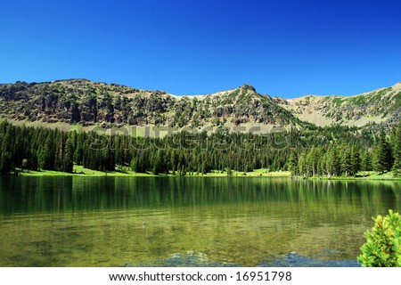 Emerald Lake in Montana - stock photo