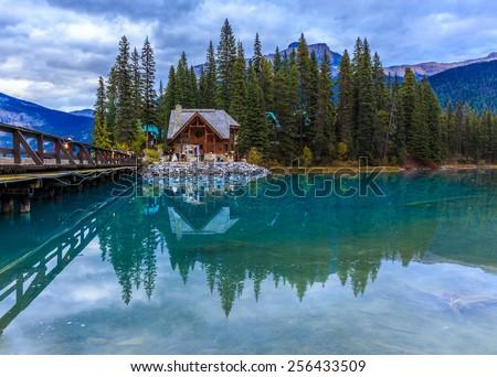 Emerald Lake in Yoho National Park, British Columbia, Canada - stock photo