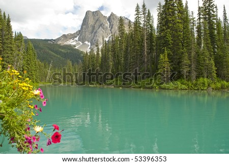 Emerald Lake in Yoho National Park, British Columbia, Canada