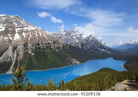 emerald lake.National Park, Banff Alberta, Canada. - stock photo