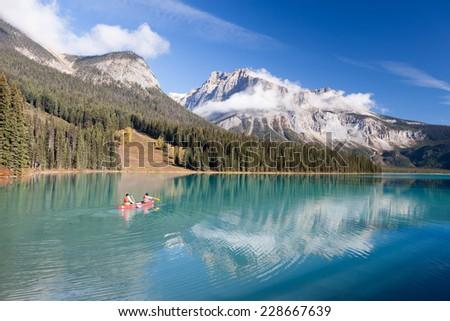 Emerald Lake of Yoho National Park - stock photo