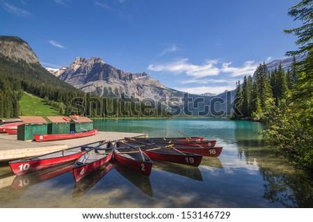 Emerald Lake, Yoho National Park, Alberta, Canada - stock photo
