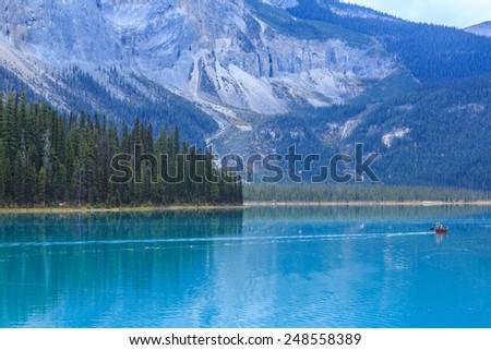 Emerald Lake, Yoho National Park, BC, Canada - stock photo