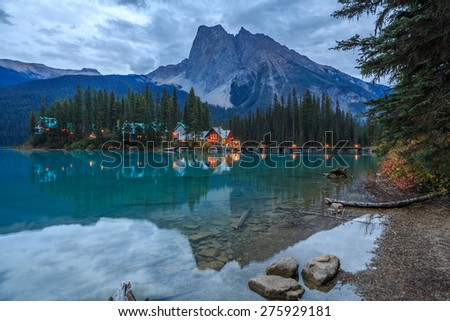 Emerald Lake , Yoho National Park, British Columbia, Canada - stock photo