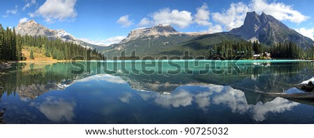 Emerald Lake, Yoho National Park, British Columbia, Canada. - stock photo