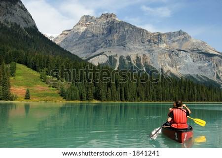 Emerald lake, Yoho National park, Canada - stock photo