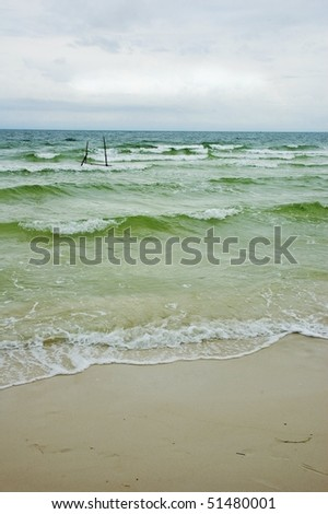 emerald water of sea, Phu Quoc, Vietnam, Asia. - stock photo