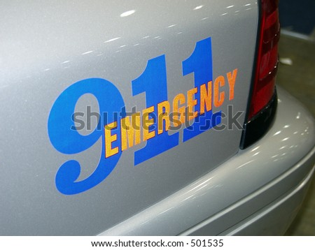 emergency 911 - stock photo