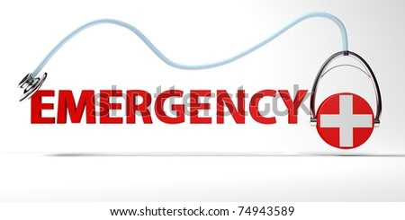 emergency - stock photo