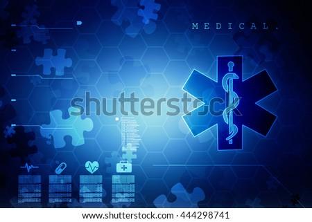 Emergency ambulance medicine symbol - stock photo