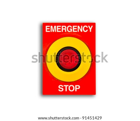Emergency and stop isolated on white background