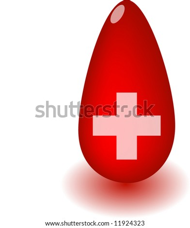 Emergency blood supply medical illustration concept - stock photo