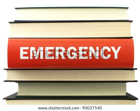 Emergency (book titles) - stock photo