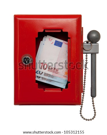 emergency box with money - stock photo