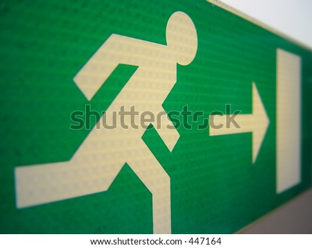 Emergency Exit - stock photo