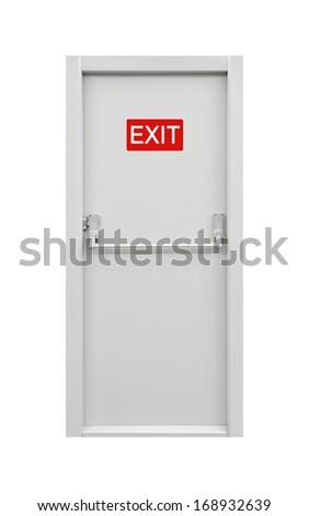 Emergency Exit Door - stock photo