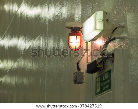 emergency exit lamp on ferry boat
