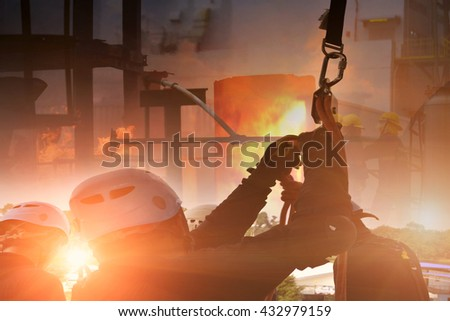 Emergency Fire Rescue . - stock photo