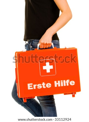 Emergency first aid - stock photo