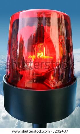 Emergency light - stock photo