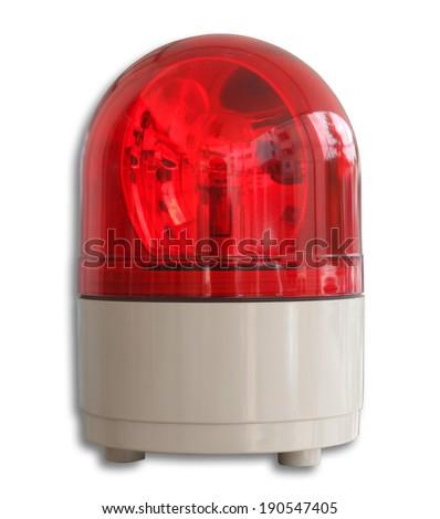 Emergency Light Isolated on White Background. - stock photo