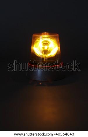 Emergency light on dark background - stock photo