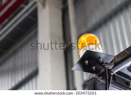 Emergency light on Forklift - stock photo