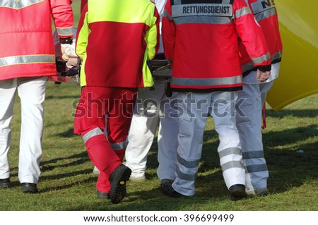 Emergency medical services - stock photo