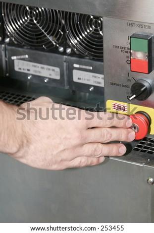 Emergency OFF - stock photo