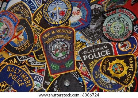 emergency patches - stock photo