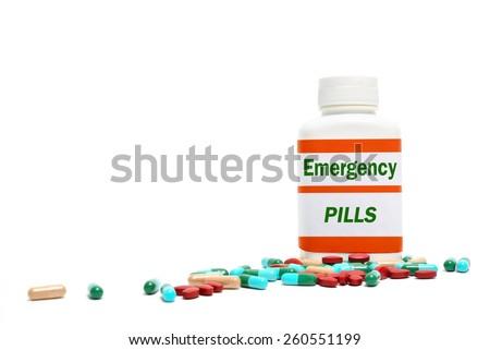 emergency pills - stock photo