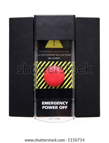 Emergency Power Off or Panic Button - Isolated.  Includes clipping path.