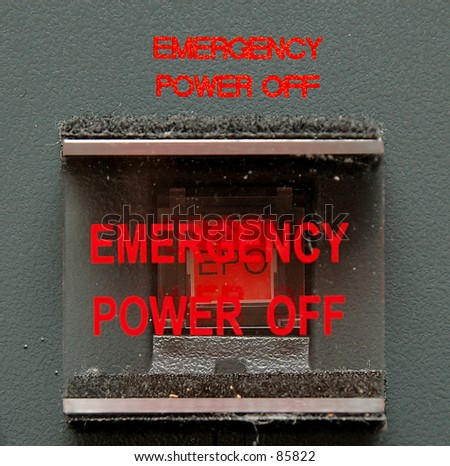 Emergency Power Off Switch - stock photo