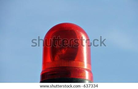emergency red light - stock photo