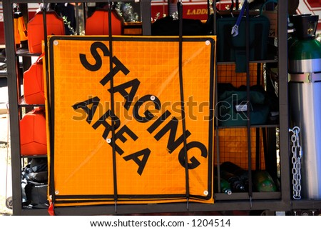 Emergency response equipment cart - stock photo