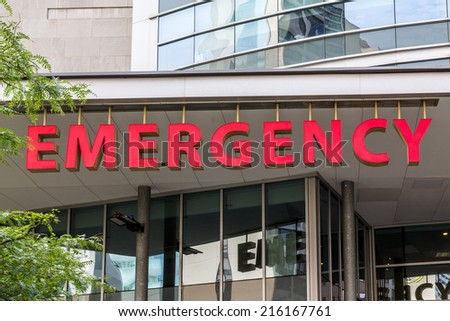 Emergency Sign - stock photo