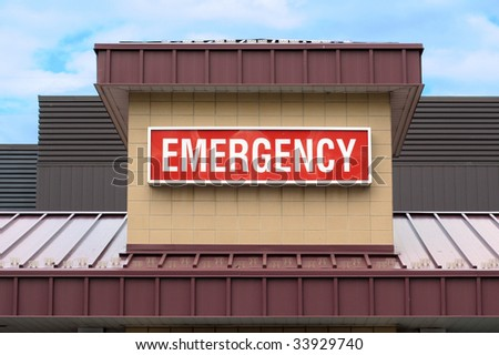Emergency sign in hospital