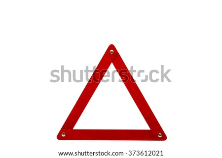 emergency sign on a white background - stock photo