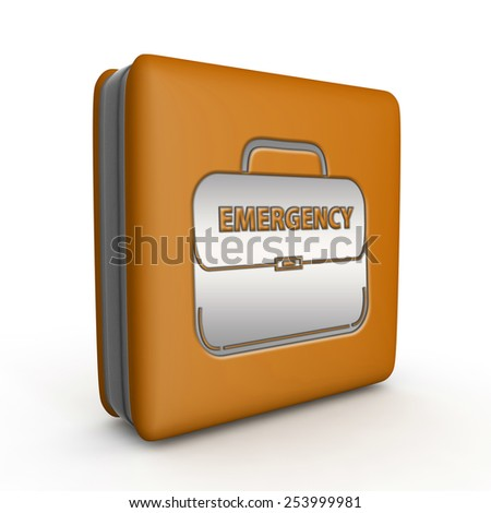 Emergency square icon on white background