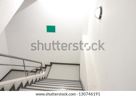 Emergency Staircase building - stock photo